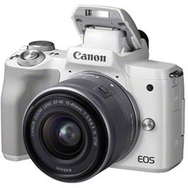 Canon EOS M50 Body With EF-M 15-45mm IS STM Lens Kit - White Thumbnail Image 3